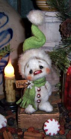 Flurry Snowman Bear by By Patti Sikes of Patti's Ratties   Bear Pile