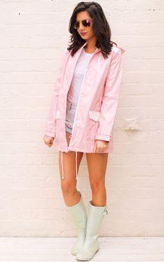 Minnie PVC High Shine Festival Hooded Raincoat... - SilkFred