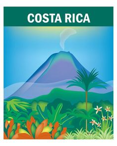 Costa Rica wall art is available in an array of finishes, materials, and sizes, this retro inspired wall art will make Costa Rica feel close to your heart with its bright color palette and unique desi