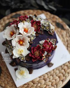 "405 Likes, 3 Comments - 베러케이크/BetterCake 버터크림&앙금플라워케익 (@better_cake_2015) on Instagram: ""Done by my student - Buttercream + Beanpaste flower cake (베러 전문가반/Professional class) www.better-…"""