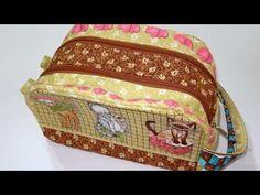 ▶ Bolsa/Necessaire em patchwork Rebeca - Bolsa - Necessaire - Patchwork - Aula bolsa patchwork - YouTube