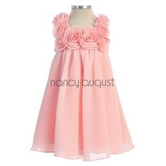 Ready To Wear Chiffon Easter Baby Dress With Rose Square Neck Baby Girl Birthday Dress, Birthday Dresses, Easter Outfit, Easter Dress, Little Girl Outfits, Kids Outfits, Flower Girl Dresses, Baby Dresses, Wedding Dresses