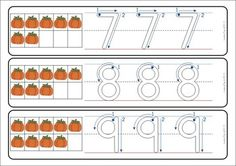 Write and Wipe - Numbers (0-20) with Correct Number Formation and Ten Frames PUMPKINS
