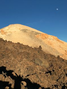 Mount Teide just before sunset on a glorious January day and under a full moon.