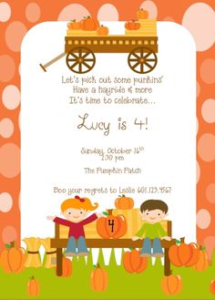 Another Halloween invite by Rebekah Hixon Designs