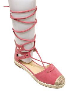 Chase and Chloe Nicki-2 Women's espadrille cap d'orsay gilly tie wrap flat sandals ** For more information, visit image link.