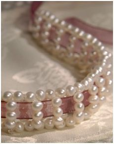 More Ribbon Jewelry Tutorials - good variety on this site.  I think this piece is perfect for a wedding.
