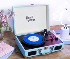 A retro turntable with a 2018 twist — it's got built-in bluetooth speakers. 30 Things For Your Dorm Room No One Else Will Have Dorm Room Gifts, Music Gadgets, Recording Studio Design, Fidget Cube, Home Studio Music, Elephant Design, College Dorm Rooms, Retro Ideas, Bedroom Themes