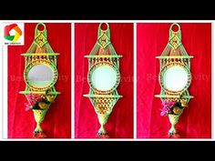 (30) Macrame Mirror Wall Hanging| Design #7| New design Mirror with Macrame Flower Hanging| Wall piece - YouTube