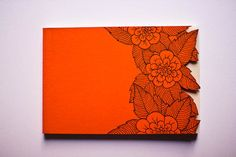 Handmade Notebook  Orange Cover/ Beige pages by SerenaOlivieri, $15.00