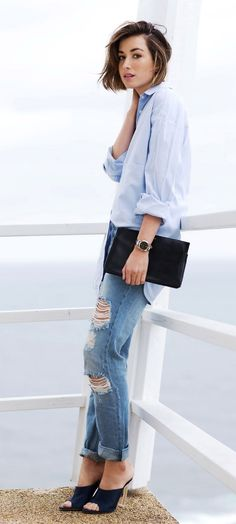 Easy denim look to copy that goes from weekday to weekend.