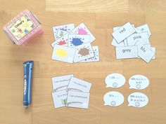 materialwiese: Themenbox Colours für die Wortschatzkiste im Englischunterricht der Grundschule