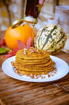 Pumpkin + Coconut Spiced Pancakes (Gluten Free + Vegan) - GoodnessGreen