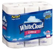 $1 off White Cloud Ultra Paper Towels 6-Roll Pack Coupon on http://hunt4freebies.com/coupons