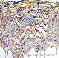"""""""Eartha"""" Acrylic on canvas by Sann Sann Lam. Words On Canvas, Abstract Words, Artist Art, Art Gallery, Fine Art, Contemporary, Friends, Painting, Design"""