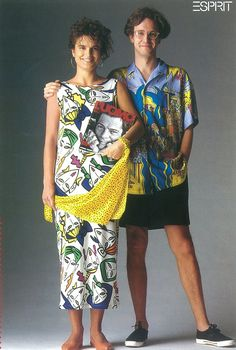 ESPRIT catalogue 1984. Joel Resnicoff Illustrations--had an outfit and a top with similar illos!