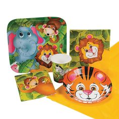 Zoo Animal Party Pack - OrientalTrading.com