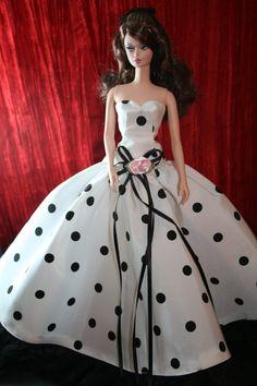 Handmade Dress for Silkstone Barbie Doll by SundaySewingShoppe