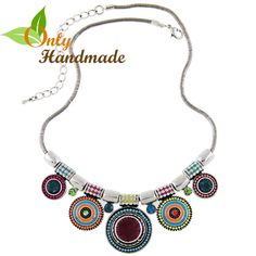 Gypsy Choker Multi Gems Necklace