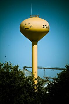 Smiley Face Water Tower, Adair, IA