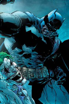 by Jim Lee The Dark Knight Rises Batman fights Joker and Joker ensures he gets the last laugh by ending the rest of his existence so all of Gotham will turn on Batman believing him the murderer that most believe him to be- tarnishing his name further Batman Drawing, Batman Artwork, Batman Wallpaper, Batman Fight, Batman Vs Superman, Funny Batman, Batman Robin, The Dark Knight Rises, Batman The Dark Knight
