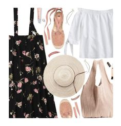 """""""Untitled #3181"""" by beebeely-look ❤ liked on Polyvore featuring L.A. Girl, Topshop, casual, ootd, floralprint, zaful and alfrescodining"""