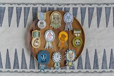 Find Wolf Badge and more embroidered pins and patches at Coral & Tusk. Shop unique embroidered badges and medal accessories to pin to jackets, bags or display. Coral And Tusk, Wes Anderson Style, Blue Beetle, Moonrise Kingdom, Embroidered Badges, Merit Badge, So Little Time, Pet Portraits, Fiber Art
