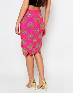 Image 2 of Virgos Lounge Blossom Pencil Skirt
