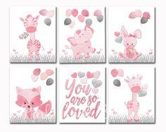 Nursery art for baby girl room decor pink elephant wall Girls Room Wall Decor, Playroom Decor, Kids Artwork, Kids Room Art, Pink Elephant, Nursery Art, Wall Prints, Kids Rugs, Etsy