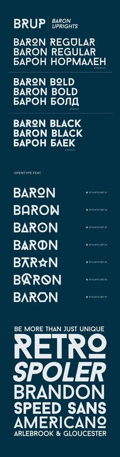 Baron-Free Font