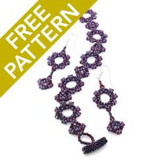 Use the fun new  pattern for CzechMates by Thomasin Alyxander with exciting Demi Round Japanese Seed Beads by Toho to create the Masquerade Earring and Bracelet set!
