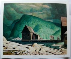 AJ Casson The vast majority of what we know about the Group of Seven are sweeping terra nullius landscapes, cleared of First Nations people - the forest for the trees. But they did also paint human lives, if rarely. The small people working through the g Tom Thomson, Emily Carr, Canadian Painters, Canadian Artists, Landscape Art, Landscape Paintings, Contemporary Landscape, Terra Nullius, Group Of Seven Artists