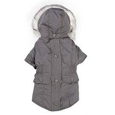 Eskimo Dog Jacket - Gray Size:X-Large Super-warm, fashionable, and multi-functional, East Side Collection Eskimo Jackets provide dogs a layered look that can be separated into three distinctive pieces, for maximum protection against bad weather Pet Coats, Dog Accesories, East Side, Pet Supplies, Raincoat, Dog Jacket, Medium Brown, Pets, Grey