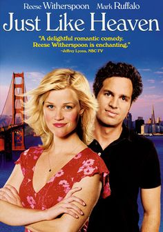 Just Like Heaven (2005) Shortly after David Abbott (Mark Ruffalo) moves into his new San Francisco digs, he has an unwelcome visitor on his hands: winsome Elizabeth Martinson (Reese Witherspoon), who asserts that the apartment is hers -- and promptly vanishes. When she starts appearing and disappearing at will, David thinks shes a ghost, while Elizabeth is convinced shes alive. Their quest for the truth ultimately leads to love in this spectral romantic comedy. http://eclipcity.com