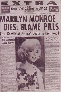 This Day in History: Aug 5, 1962: Marilyn Monroe is found dead......I was in my early teens when the news hit....I think her death affected everyone, young and old....so sad!