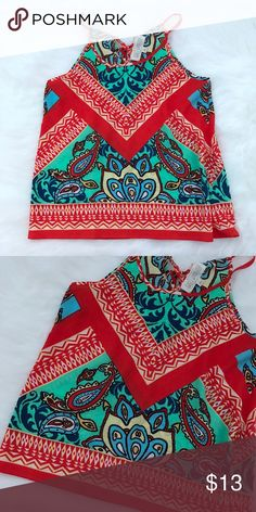 New summer top New without tags summer top. Size small boutique brand Tops Blouses