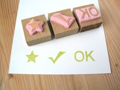 Need a gift for your student's teacher? Get this hand carved rubber stamp set. $15.00, via Etsy.