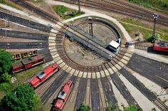 Germany - Rotating hub at the depot Magdeburg-Rothensee - photo: dpa/picture-alliance