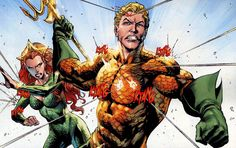 Aquaman (Arthur Curry) a superhero in the DC Comics. Arthur is the son of a lighthouse keeper, Tom Curry and a woman named Atlanna. Raised in Amnesty Bay Maine by his mother and father in the local Lighthouse. Arthur manifested incredible strength, speed, is able to breathe underwater, and talk to fish as a child. On her deathbed, his mother revealed that she was an exiled Queen of Atlantis and he would someday inherit rule of the seven seas.