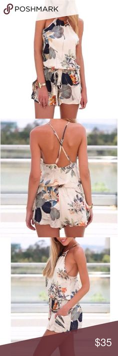 NWOT Floral Romper - small NWOT Floral Romper - small. Lightweight fabric with an almost silky feel to it! Perfect for summer! Other