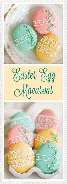 Egg Macarons Move over chocolate bunnies, these sweet French macarons will be your new favorite Easter treat.Move over chocolate bunnies, these sweet French macarons will be your new favorite Easter treat. Easter Cookies, Easter Treats, Summer Cookies, Baby Cookies, Heart Cookies, Valentine Cookies, Birthday Cookies, Christmas Cookies, Delicious Desserts