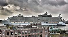 De Oasis of the Seas komt bij ARA voorbij.
