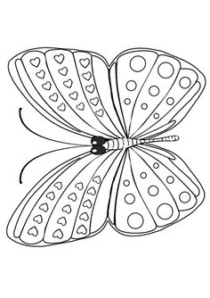 Free Online Printable Kids Colouring Pages - Basic Butterfly Colouring Page