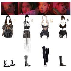 Fashion set blackpink in cochalla created via Blackpink Fashion, Kpop Fashion Outfits, Korean Fashion, Fashion Looks, Edm Outfits, Stage Outfits, Cute Girl Outfits, Retro Outfits, Burning Man Fashion
