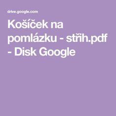 Košíček na pomlázku - střih.pdf - Disk Google Pdf, Google