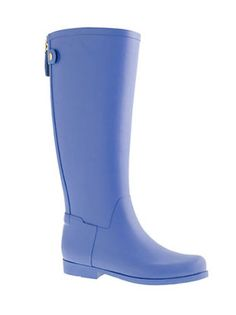 Weatherby Rubber Riding Boots in Brilliant Blue,   $79.50; jcrew.com