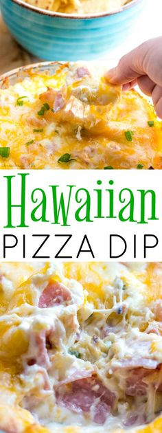 Creamy, meaty, cheesy and sweet! This Hawaiian Pizza Dip is the perfect appetizer for your pizza night. #FreschettaFresh AD @walmar