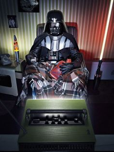 Vader at home #starwars #fanart