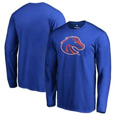Boise State Broncos Fanatics Branded Big & Tall Primary Team Logo Long Sleeve T-Shirt - Royal - $29.99