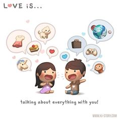 Love is. talking about everything with you! : HJ-Story Loved & pinned by…